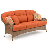 6703 Outdoor Wicker Sofa in Driftwood Finish.