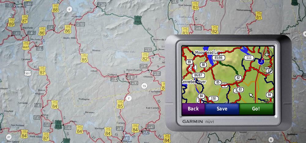 Snowmobile GPS Trail Maps