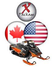 Eastern US and Quebec snowmobile GPS trail map