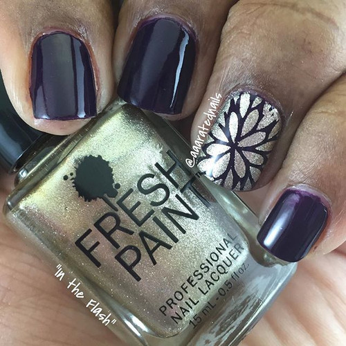 Mum Nail Shield - Stuck on Love by Love Angeline available at Girly Bits Cosmetics www.girlybitscosmetics.com (photo credit: @aaaratednails)
