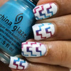 Tribal Chevron Nail Shields by Love Angeline available at Girly Bits Cosmetics www.girlybitscosmetics.com (photo credit: @tachas_nails)