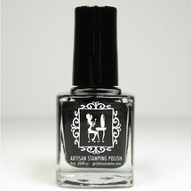 Girly Bits Basic Black Stamping Polish 9mL