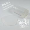 Transparent Frosted Stamper with a clear stamping head | Girly Bits Cosmetics
