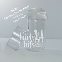 Crystal Clear Stamper with Cap | Girly Bits Cosmetics