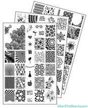 UberChic Nail Stamp Plates - Collection 6 | Available at www.girlybitscosmetics.com