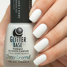 Glitter Base White - Peel Off Formula | DANCE LEGEND available at Girly Bits Cosmetics www.girlybitscosmetics.com