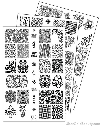 UberChic Nail Stamp Plates - Collection 8 | Available at www.girlybitscosmetics.com