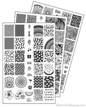 UberChic Nail Stamp Plates - Collection 9