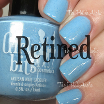 Swatch courtesy of The PolishAholic | GIRLY BITS COSMETICS Bleu de tes Yeux Sweet Nothings Collection