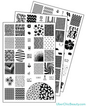 UberChic Nail Stamp Plates - Collection 2
