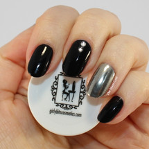 Girly Bits Silver Mirror Chrome effect powder | Swatch by The Mani Cafe