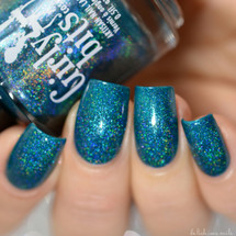 Swatch courtesy of Delishious Nails | GIRLY BITS COSMETICS One is never un  oeuf (The Indie Shop LE)