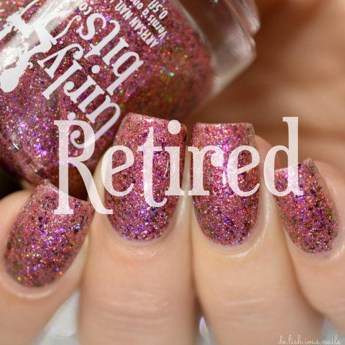 Swatch courtesy of Delishious Nails | GIRLY BITS COSMETICS Ooh la la! (The Indie Shop LE)