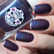 AVAILABLE AT GIRLY BITS COSMETICS www.girlybitscosmetics.com Quietly Cast the Moo Spell (Moo Moo's Story Part I) by Moo Moo Signatures | Swatch courtesy of Mad Moon Polish