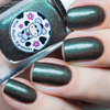 AVAILABLE AT GIRLY BITS COSMETICS www.girlybitscosmetics.com Don't Wake the Monster In the Woods (Moo Moo's Story Part I) by Moo Moo Signatures | Swatch courtesy of Mad Moon Polish