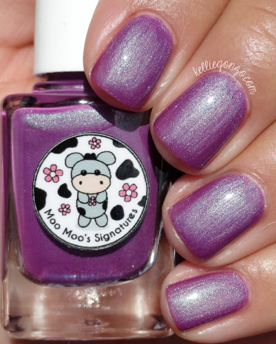 AVAILABLE AT GIRLY BITS COSMETICS www.girlybitscosmetics.com Rosy Aroma (Moo Moo's Story Part III) by Moo Moo Signatures | Swatch courtesy of @kelliegonzo