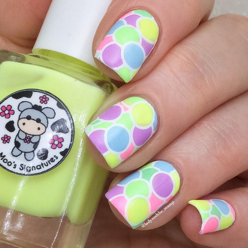 AVAILABLE AT GIRLY BITS COSMETICS www.girlybitscosmetics.com April Moon (Rainbow Flowers Bath Collection) by Moo Moo Signatures | Swatch courtesy of @ladyandthe_stamp