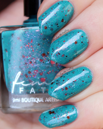 AVAILABLE AT GIRLY BITS COSMETICS www.girlybitscosmetics.com Interstellar Burst (Just Like A Dream Trio) by Femme Fatale in collaboration with Alena Belozerova of thepolishinglife.com & @lfcbabe | Swatch courtesy of @emilydemolly