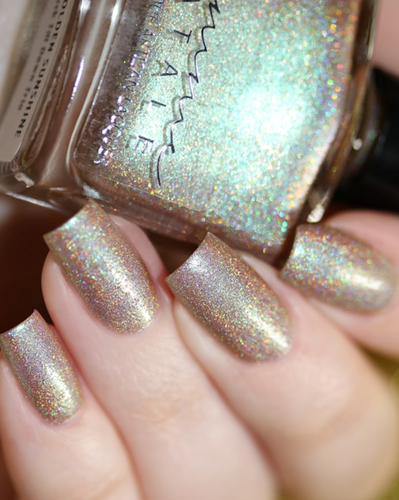 AVAILABLE AT GIRLY BITS COSMETICS www.girlybitscosmetics.com Ray of Golden Sunshine (From Dusk til Dawn Trio) by Femme Fatale in collaboration with Zlata Anoshina of carrionlimp.blogspot.com & @de_briz | Swatch courtesy of @chrissys_lackwahnsinn