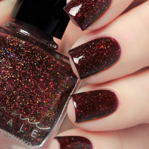 AVAILABLE AT GIRLY BITS COSMETICS www.girlybitscosmetics.com Red Sundown (From Dusk til Dawn Trio) by Femme Fatale in collaboration with Zlata Anoshina of carrionlimp.blogspot.com & @de_briz | Swatch courtesy of @de_briz