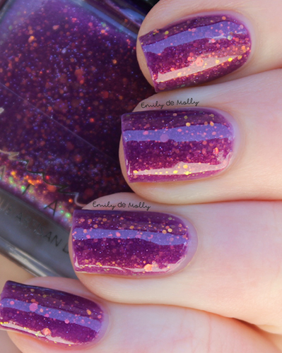 AVAILABLE AT GIRLY BITS COSMETICS www.girlybitscosmetics.com Tinsel Twinkles - December COTM by Femme Fatale | Swatch courtesy of @emilydemolly