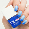 AVAILABLE AT GIRLY BITS COSMETICS www.girlybitscosmetics.com Thermo Top Coat Blue (Conversion Collection) by Bow Polish | All product images courtesy of Dance Legend.