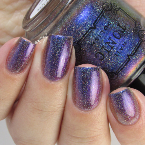 AVAILABLE AT GIRLY BITS COSMETICS www.girlybitscosmetics.com Magnetic Midnight (Holiday 2016) by Tonic Polish | Swatch courtesy of @gotnail