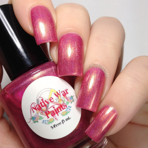 AVAILABLE AT GIRLY BITS COSMETICS www.girlybitscosmetics.com Gum Would Be Perfection (I'll Be There For You Collection) by Native War Paints   Swatch  provided by @cdbnails143
