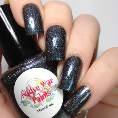 AVAILABLE AT GIRLY BITS COSMETICS www.girlybitscosmetics.com I Got Off the Plane (I'll Be There For You Collection) by Native War Paints | Swatch  provided by @cdbnails143