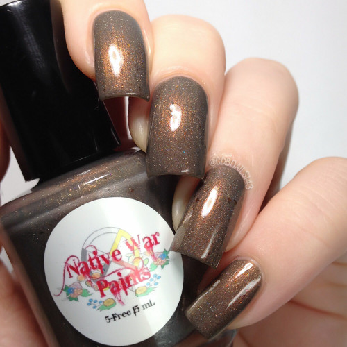 AVAILABLE AT GIRLY BITS COSMETICS www.girlybitscosmetics.com Smelly Cat (I'll Be There For You Collection) by Native War Paints | Swatch  provided by @cdbnails143