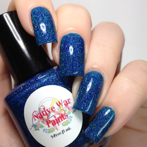 AVAILABLE AT GIRLY BITS COSMETICS www.girlybitscosmetics.com How You Doin'? (I'll Be There For You Collection) by Native War Paints | Swatch  provided by @cdbnails