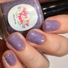 AVAILABLE AT GIRLY BITS COSMETICS www.girlybitscosmetics.com Purple Pachyderms and Rainbows (Purple Reign Collection) by Native War Paints | Swatch  provided by @mrswhite8907