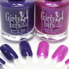 GIRLY BITS COSMETICS She's Got Grape Tips & Ladies and Magentlemen (CoTM February 2017)