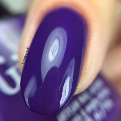 GIRLY BITS COSMETICS She's Got Grape Tips (CoTM February 2017) | Swatch courtesy of Nail Experiments