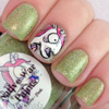 AVAILABLE AT GIRLY BITS COSMETICS www.girlybitscosmetics.com Zombie Unicorns Love Brains (Attack of the Killer Unicorns Collection) by Native War Paints | Swatch  provided by @cdbnails143