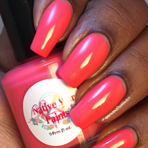 AVAILABLE AT GIRLY BITS COSMETICS www.girlybitscosmetics.com Watermelon Bubblegum (Most Requested Collection) by Native War Paints | Swatch provided by @queenofnails83