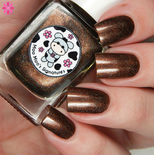 AVAILABLE AT GIRLY BITS COSMETICS www.girlybitscosmetics.com Chasing Tumbling Tumbleweeds (Life of a Cowgirl Trio) by Moo Moo's Signatures | Swatch courtesy of Cosmetic Sanctuary