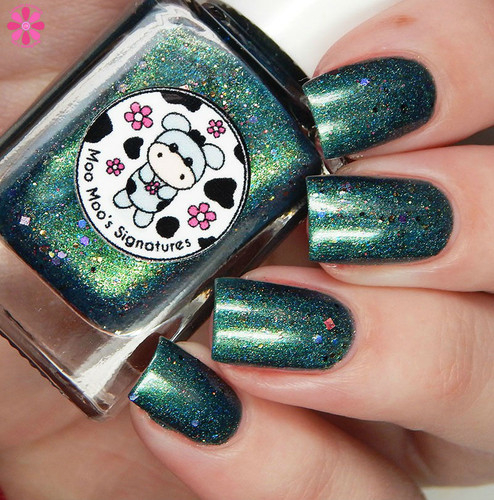 AVAILABLE AT GIRLY BITS COSMETICS www.girlybitscosmetics.com Cowgirl's Broken Time Machine (Life of a Cowgirl Trio) by Moo Moo's Signatures | Swatch courtesy of Cosmetic Sanctuary