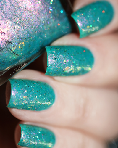 AVAILABLE AT GIRLY BITS COSMETICS www.girlybitscosmetics.com Dominion of the Sea Witch (Little Mermaid Collection) by Femme Fatale | Swatch courtesy of @chrissys_lackwahnsinn