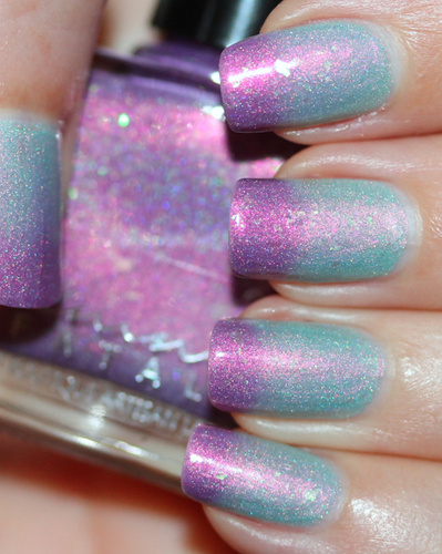 AVAILABLE AT GIRLY BITS COSMETICS www.girlybitscosmetics.com Glittering Draught (Little Mermaid Collection) by Femme Fatale | Swatch courtesy of  Des Trucs de Filles