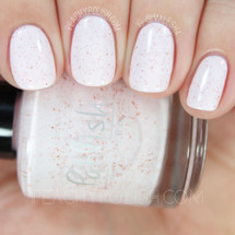 AVAILABLE AT GIRLY BITS COSMETICS www.girlybitscosmetics.com Fleur de Sel (Core Collection) by Pahlish | Swatch  credit: Peachy Polish