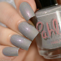 AVAILABLE AT GIRLY BITS COSMETICS www.girlybitscosmetics.com Silver Morning (Atmospheres Collection) by Pahlish | Swatch  credit: Delishious Nails