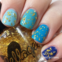 AVAILABLE AT GIRLY BITS COSMETICS www.girlybitscosmetics.com Golden Lotus (Specialty Top Coats Collection) by Ellagee | Photo courtesy of Plump and Polished