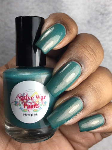 AVAILABLE AT GIRLY BITS COSMETICS www.girlybitscosmetics.com My Favorite Copper Sweater (Copper Penny Collection) by Native War Paints   Swatch courtesy of @queenofnails83