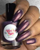 AVAILABLE AT GIRLY BITS COSMETICS www.girlybitscosmetics.com Penny For Your Thoughts (Copper Penny Collection) by Native War Paints | Swatch courtesy of @queenofnails83