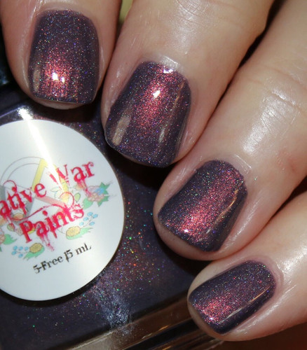 AVAILABLE AT GIRLY BITS COSMETICS www.girlybitscosmetics.com Penny For Your Thoughts HOLO (Copper Penny Collection) by Native War Paints   Swatch courtesy of Vampy Varnish