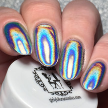 Ultra Holochrome powder by Girly Bits | Swatch by Nail Experiments