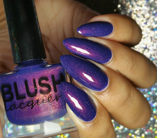 AVAILABLE AT GIRLY BITS COSMETICS www.girlybitscosmetics.com Evening Sparkler - July 2016 Color of the Month (COTM Collection) by Blush Lacquers | Photo credit: @thepolishedmage