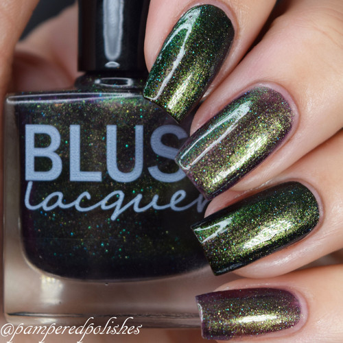 AVAILABLE AT GIRLY BITS COSMETICS www.girlybitscosmetics.com Amethyst Amulet (Midnight Masquerade Collection) by Blush Lacquers | Photo credit: @pamperedpolishes