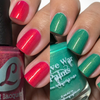 AVAILABLE FOR PRE-ORDER AT GIRLY BITS COSMETICS www.girlybitscosmetics.com Yo Que Tu S O by Bluebird Lacquer and Battle of Scarif by Native War Paints (The Light Side Duo from the Star Wars Collection) | Swatches courtesy of @goldnchyld